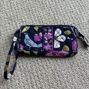 Vera Bradley Wristlet in Floral Nightingale